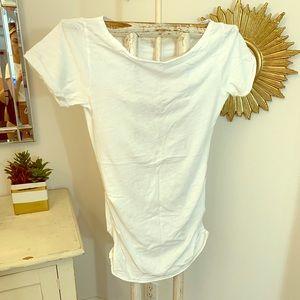 ➖ Rachel Rachel Roy Boat Neck Ruched T Shirt ➖